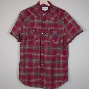 Denim & Supply Plaid Red Short-Sleeve Casual Shirt